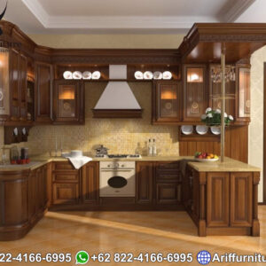 Kitchen Set Kayu Jati Jepara American Design 1