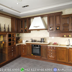 Kitchen Set Kayu Jati Minimalis Jepara