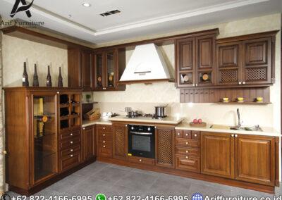 Jual Kitchen Set Kayu Jati Minimalis Jepara Harga Murah Arif Furniture Indonesia
