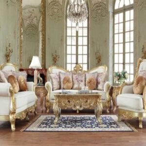 Sofa Tamu Jepara Mewah Klasik Gaya Amerika