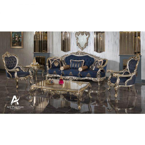 1 Set Sofa Tamu Mewah Ukir Klasik
