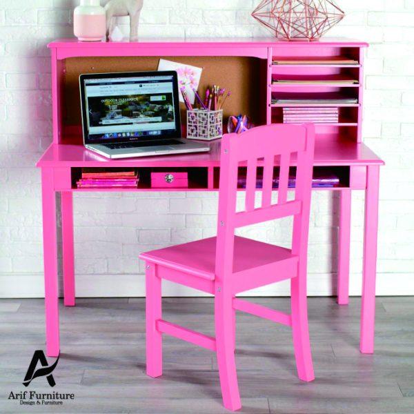 Meja Belajar Minimalis Duco Pink