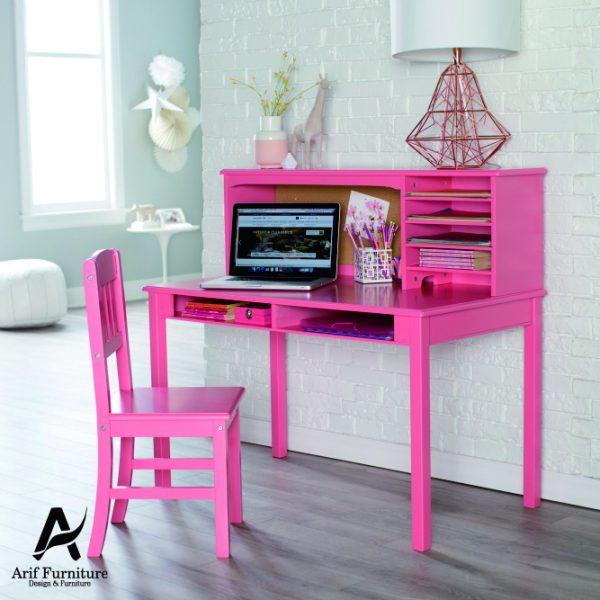 Meja Belajar Minimalis Duco Pink1