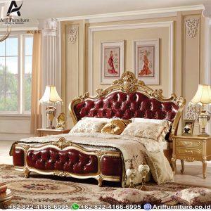 Tempat Tidur Red Klasik Mewah