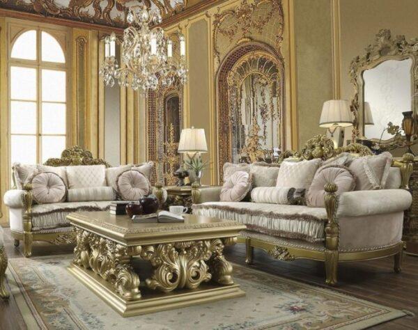 Luxurious Sofa Tamu Mewah Jepara Gold 1