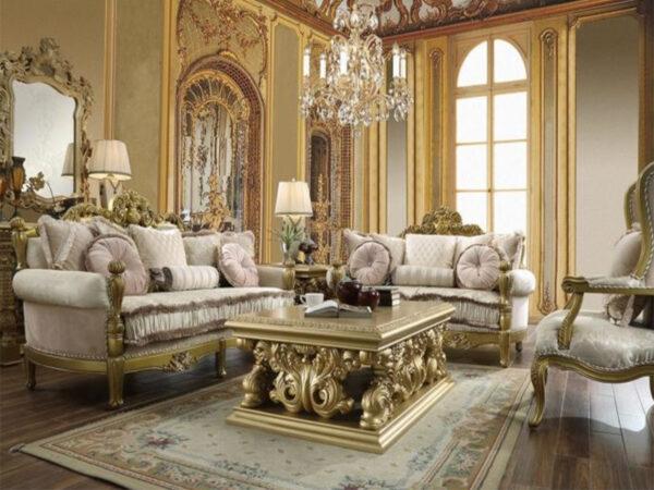 Luxurious Sofa Tamu Mewah Jepara Gold