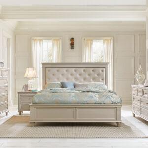 Tempat Tidur Minimalis Mirror Cream 1
