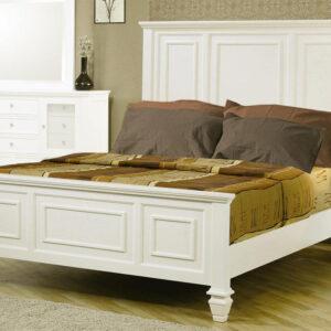 Tempat tidur set minimalis duco putih