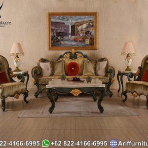 Kursi Sofa Tamu Jepara Klasik Antik