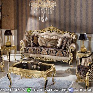 Kursi Sofa Tamu Mewah Black Gold