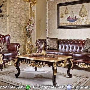 Kursi Sofa Tamu Mewah Jati Jepara