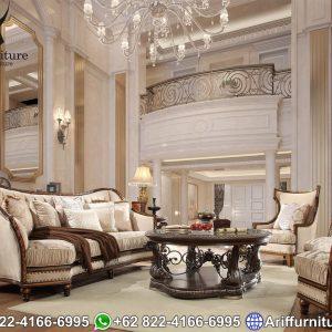 Kursi Sofa Tamu Mewah Jati Luxury