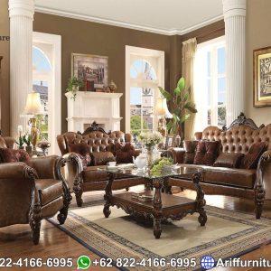Kursi Sofa Tamu Mewah Klasik Natural 2