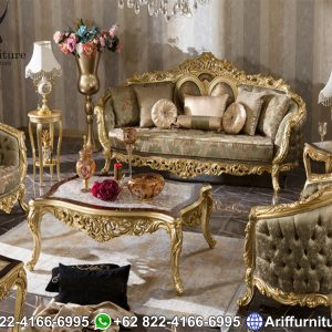 Kursi Sofa Tamu Mewah Olympus Gold