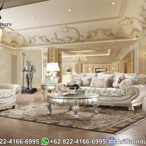 Kursi Sofa Tamu Mewah Silver Duco