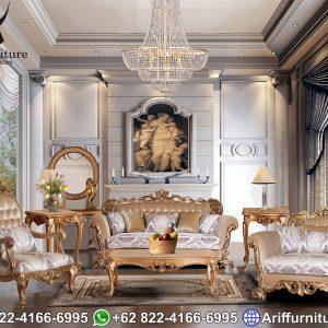 Set Kursi Sofa Tamu Mewah Gold Duco