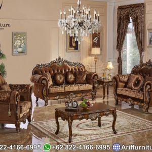 Set Sofa Tamu Mewah Klasik Eropa