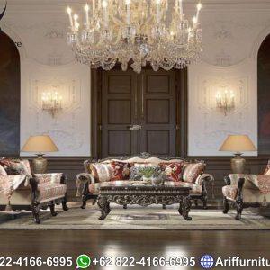 Set Sofa Tamu Mewah Natural Jati