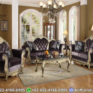 Sofa Tamu Mewah Jepara Klasik Duco