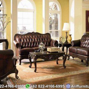 Sofa Tamu Mewah Jepara Klasik Natural