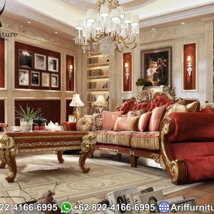 Sofa Tamu Mewah Jepara Ukir Luxury