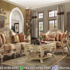 Sofa Tamu Mewah Ukiran Jepara Klasik Turkey