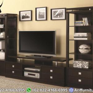 Bufet tv mewah jati minimalis terbaru