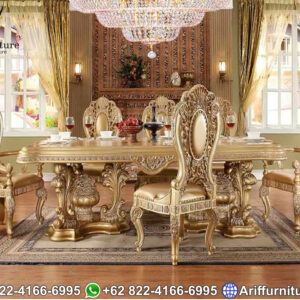 1 Set Meja Kursi Makan Luxury