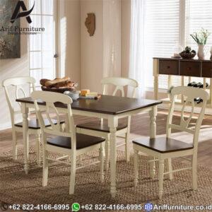 Meja Makan Minimalis Duco Putih Marlin
