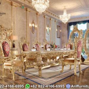 Set Meja Makan Mewah Klasik