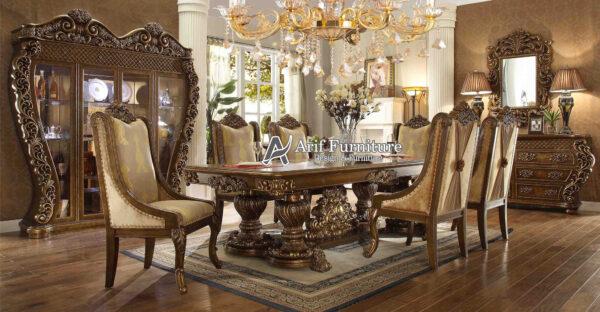 kursi makan mewah meja makan 6 kursi