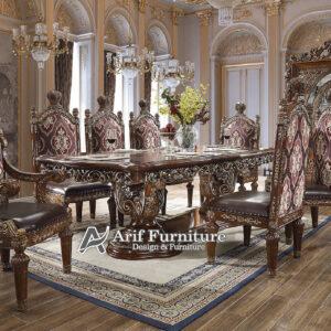 kursi makan mewah meja makan 8 kursi