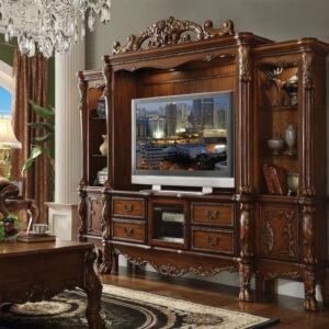 lemari tv kayu jati modern jepara