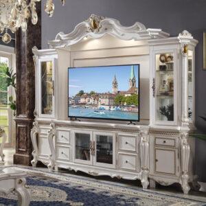 lemari tv klasik modern mewah