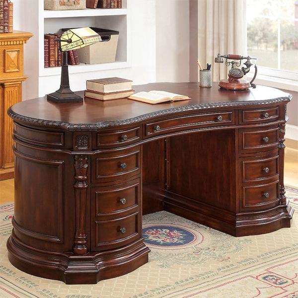 model meja kerja kayu jati 1