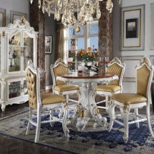 set meja makan klasik bundar