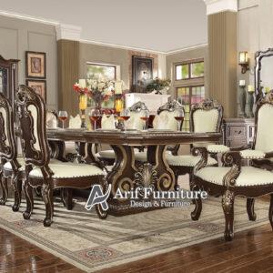 set meja makan mewah modern jepara