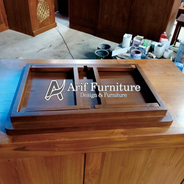 meja laptop kayu minimalis lipat jepara modern