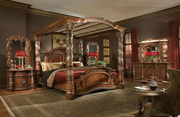 set kamar tidur pengantin mewah