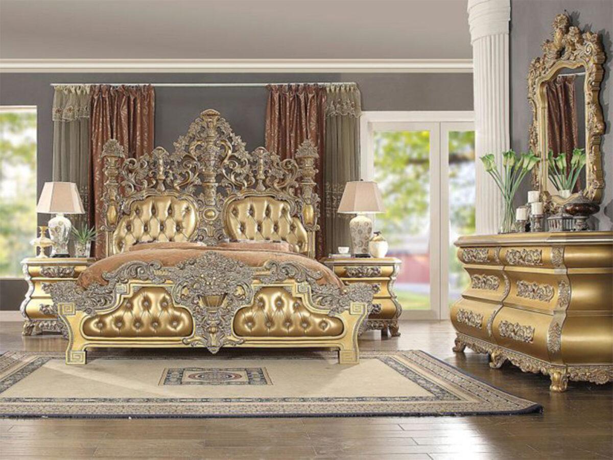 set tempat tidur mewah jati klasik jepara