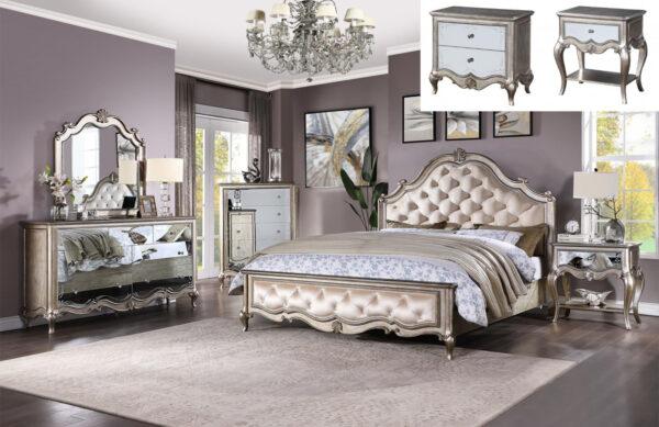set tempat tidur mewah klasik modern