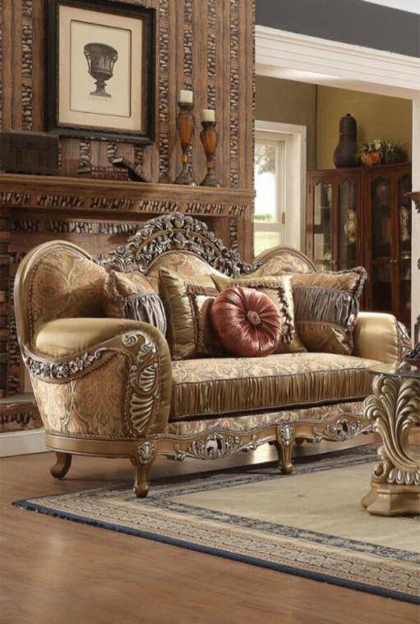 sofa kayu jati ukir mewah modern 1