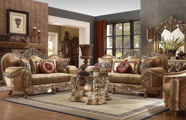 sofa kayu jati ukir mewah modern