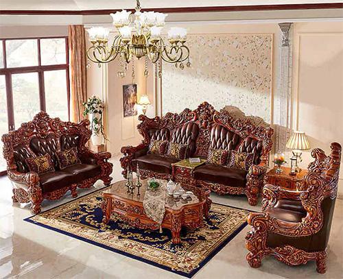sofa kursi ruang tamu mewah modern jati