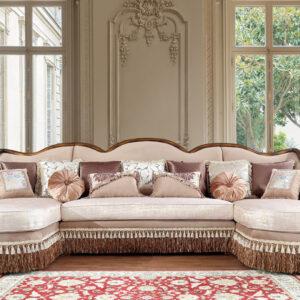 sofa letter u modern kayu jati