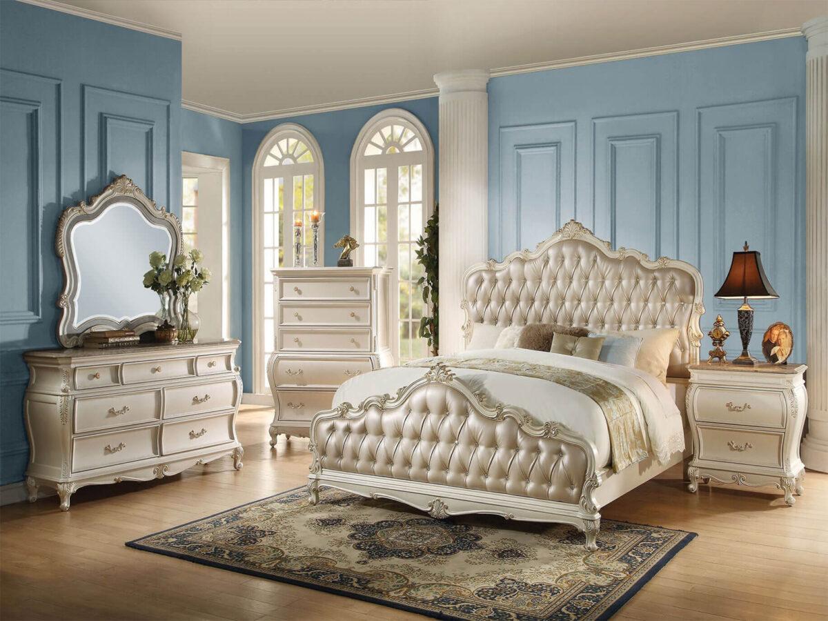 tempat tidur mewah ukir klasik