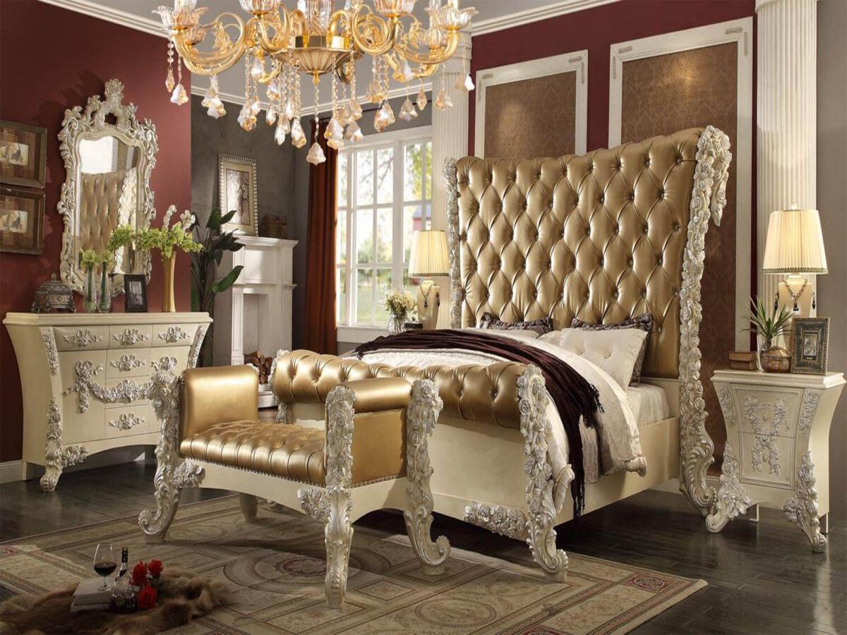 tempat tidur mewah ukir modern terbaru