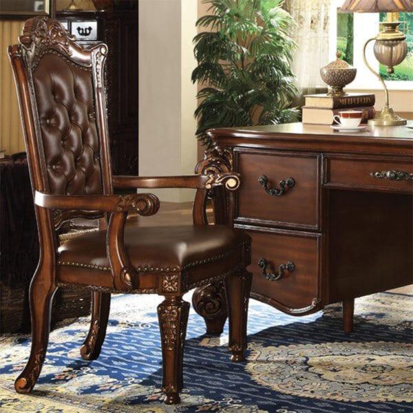 Kursi kantor klasik kayu jati