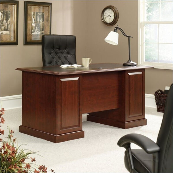 Meja kantor minimalis jati modern