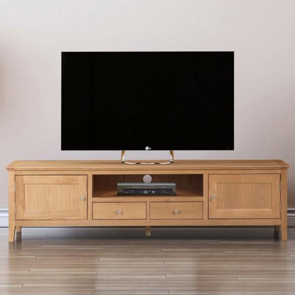 meja tv minimalis modern jati